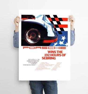poster porsche 192 horas de Sebring